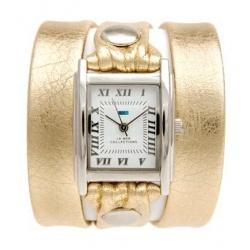 Wrap, wrap, wrap! Horloge La Mer Collections, horlogeband in een fijn Italiaans leer, goudkleur!
