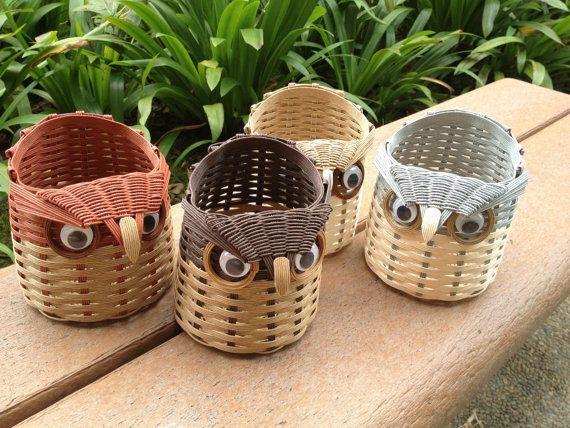 OMG! owl basket!!! cuteness times 3!