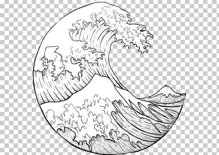 The Great Wave Off Kanagawa Japan Wind Wave Drawing Png Area Art Artwork Black And White Circle Wave Drawing Circle Drawing Ocean Drawing