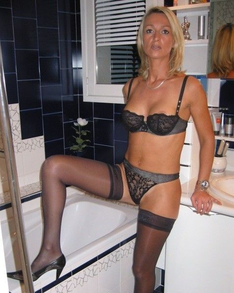 panties Hot blonde milf