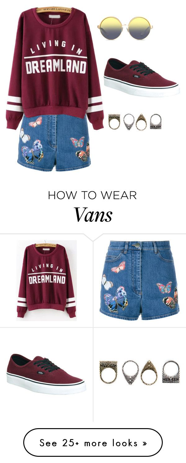 """""""Untitled #434"""" by saherbhamla on Polyvore featuring Valentino, Vans, Pull&Bear and Matthew Williamson"""