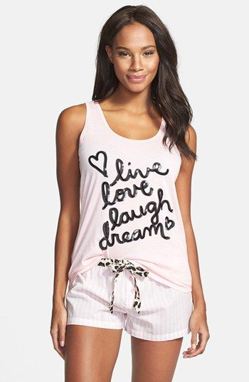 PJ Salvage 'Love' Tank & Shorts available at #Nordstrom