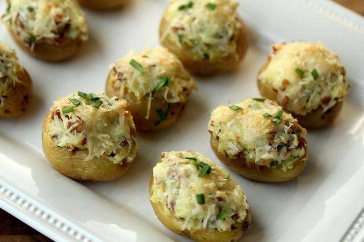 Karen's Kitchen Stories: Mini Twice-Baked Potato Appetizers