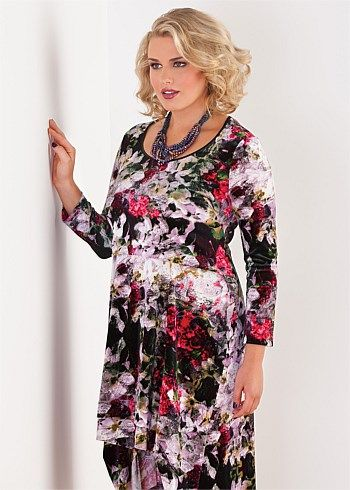 #Eplisse Sugar Plum Velvet Dress #plussize #curvy