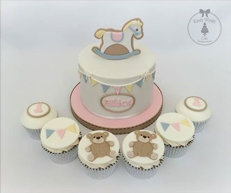 vintage bunting baby shower cakes - Google Search