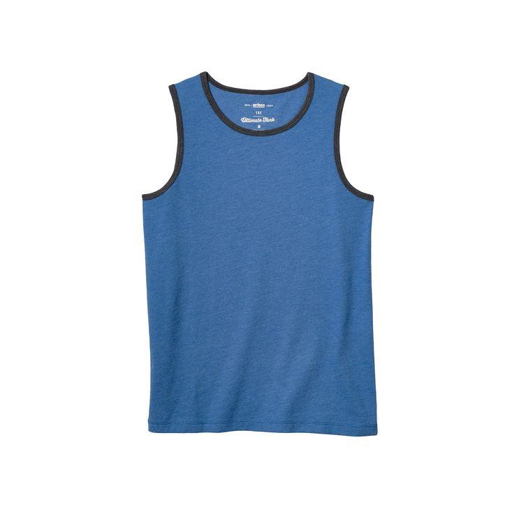 Boys 8-20 Urban Pipeline® Ultimate Solid Heather Tank Top, Boy's, Size: Medium, Blue (Navy)