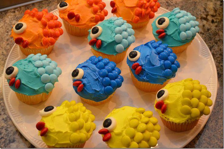 Colorful Fish Cupcakes