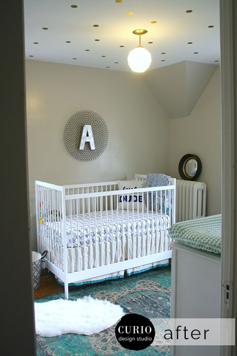 OUR HOUSE- BEIGE, TEAL & NAVY NURSERY