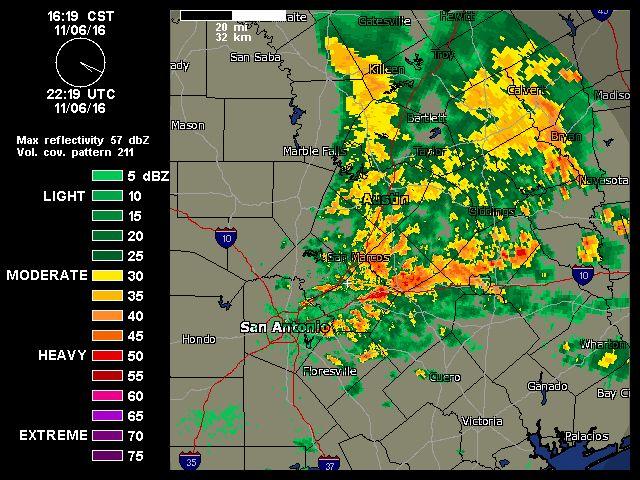 11/06/2016   Austin-San Antonio Radar   Weather Underground