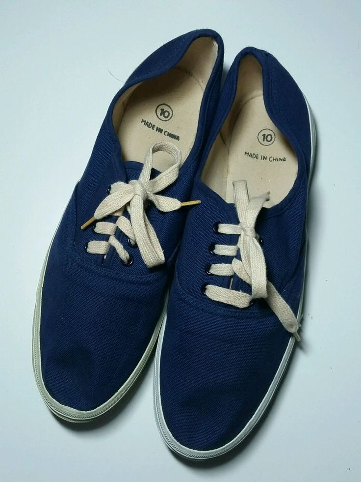 Vintage Womens Blue Canvas Tennis Athletic Sneakers Shoes Lace Up 10 Flat  #Unbranded #Athletic