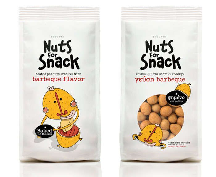 Personified Peanut Branding - Nuts for Snack Packaging Features Cute Characters That'll Crack You Up (GALLERY)