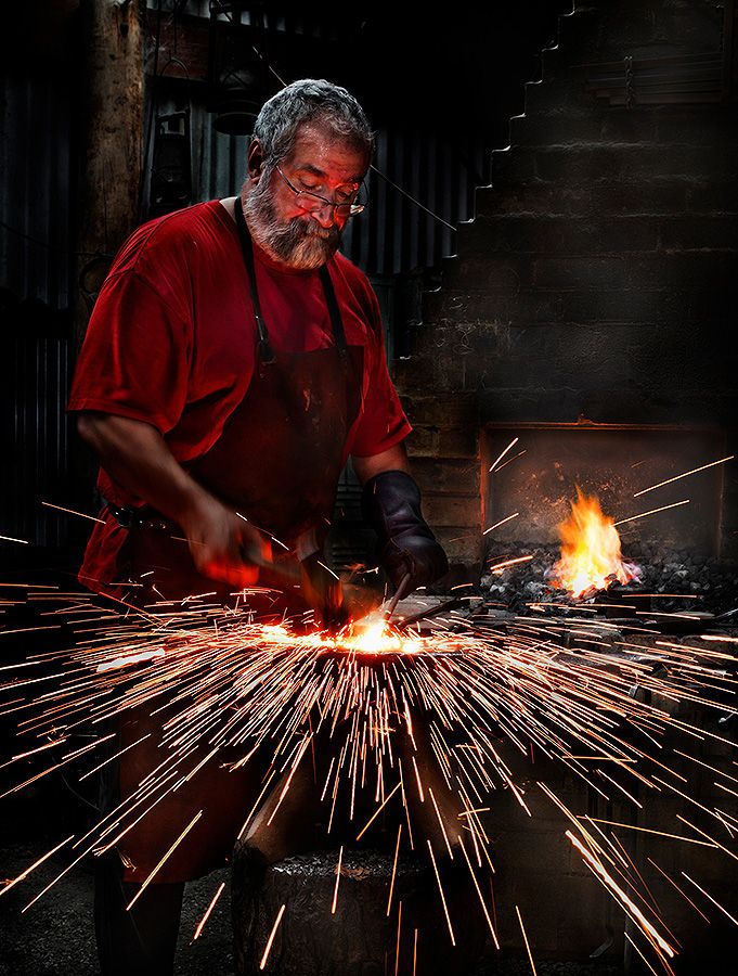 Mens Shed Project - fire welding © Photography by Design