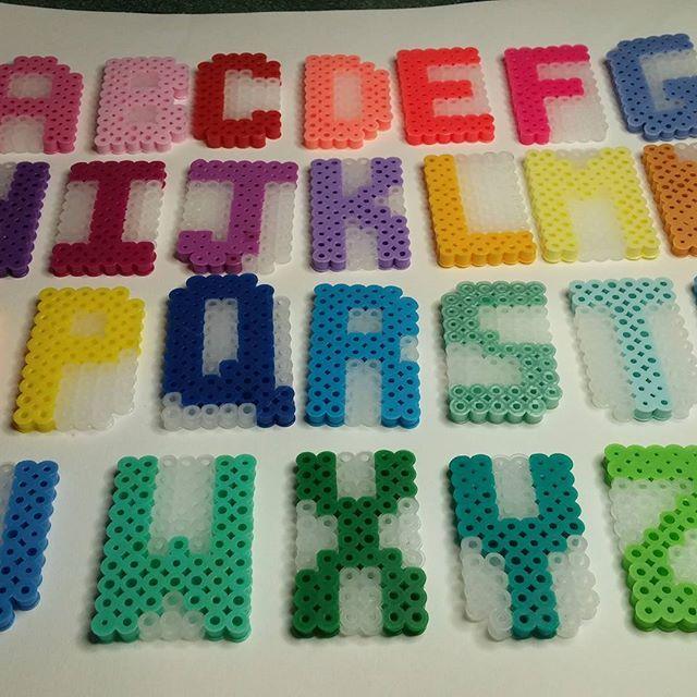 Alphabet perler beads by  zombemunky