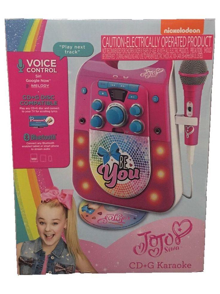 JoJO Siwa Nickelodeon CD G Karaoke Machine Bluetooth enabled Voice control Stream audio from smart phone or tablet Brand new   eBay!