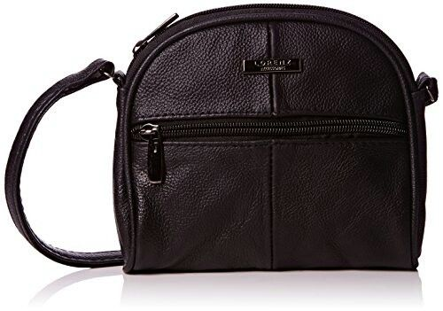 Lorenz Real Genuine Leather Small Shoulder Bag Cross body bag BLACK. amazon .co. bb2ef07f52ce7