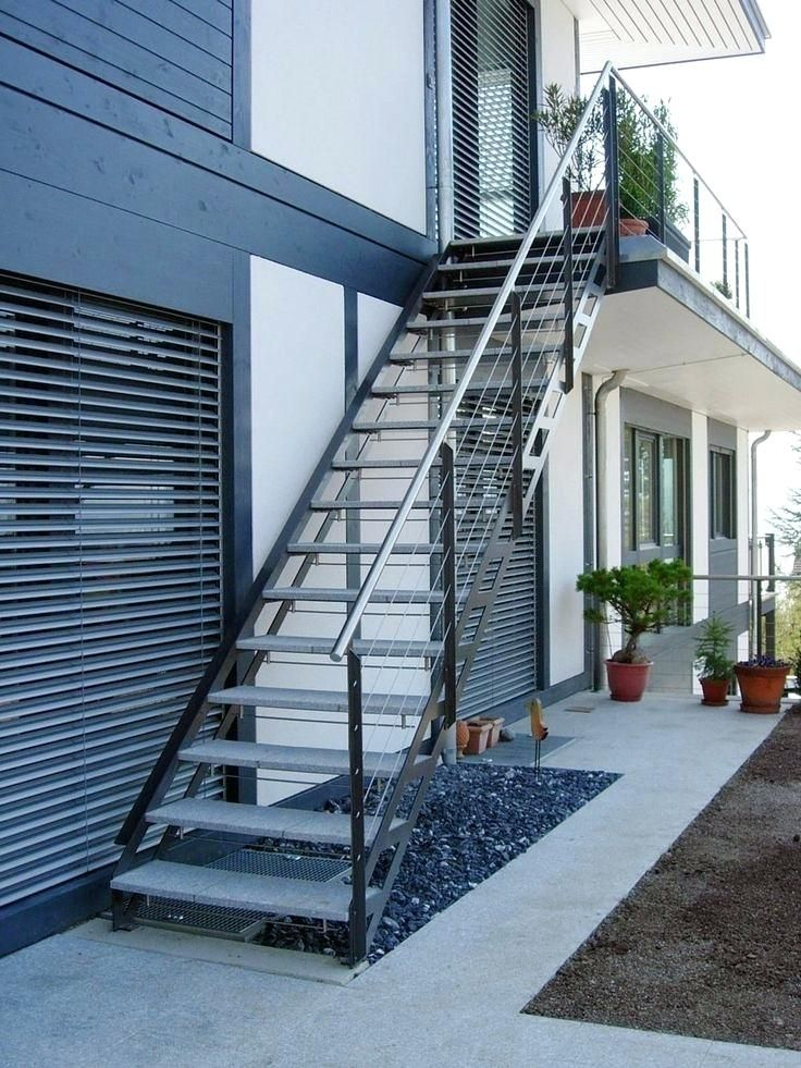 Image Result For Barn House With External Stairs Exterior Stairs | Modern Staircase Design Outside Home | Iron Railings | Concrete | Design Ideas | Msmedia | Steel Staircase
