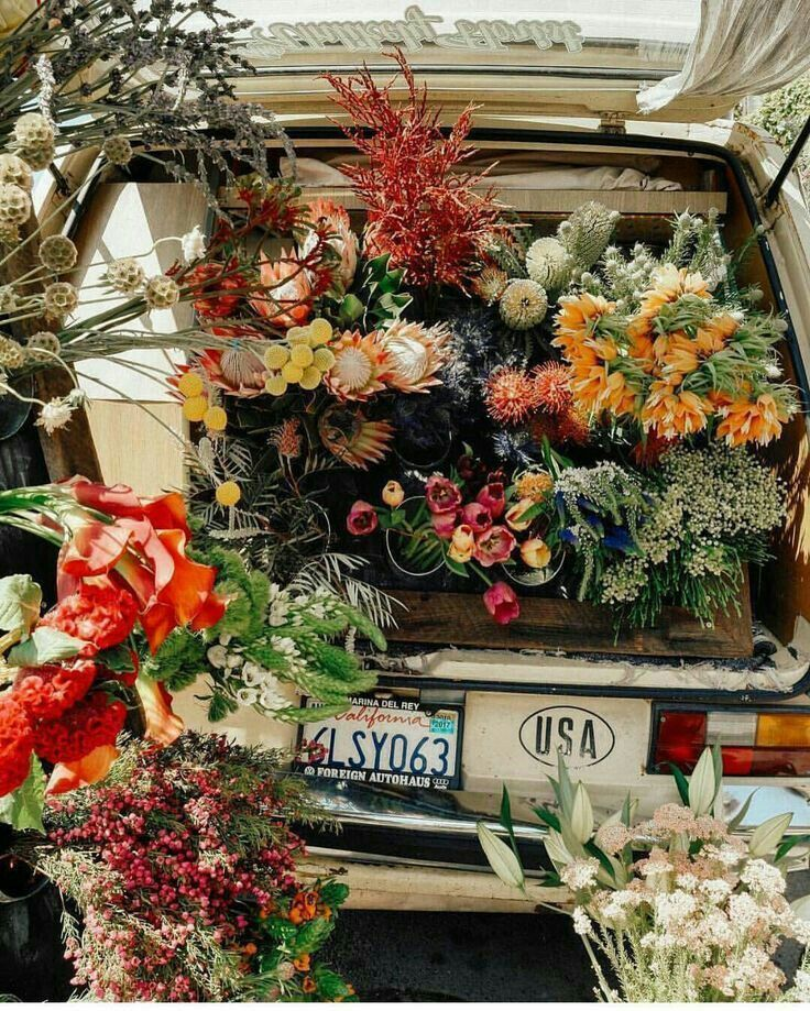 A Trunk Filled With Beauty 이미지 포함 꽃장식