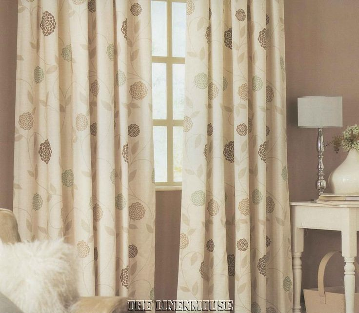 Rosemont Natural Ready Made Tape Top Lined Curtains In Home Furniture DIY Blinds Pelmets