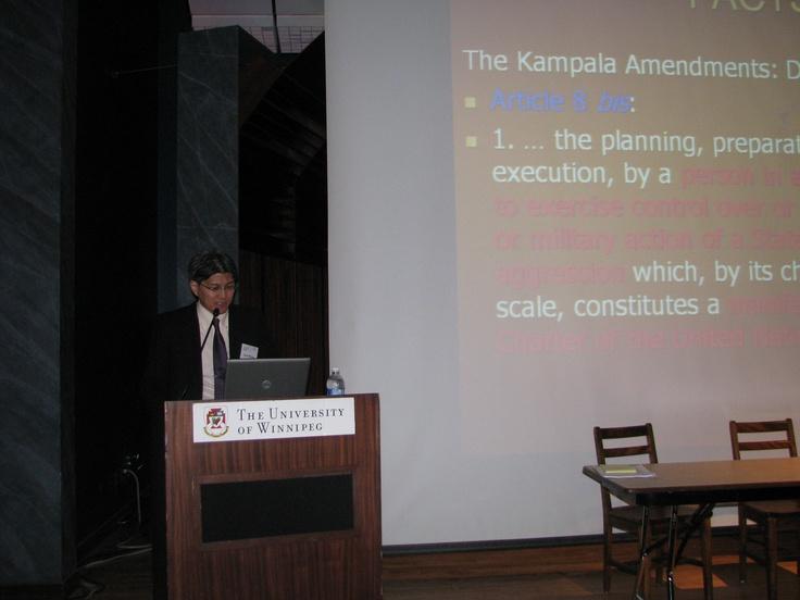 Takahiro Katsumi speaking in Winnipeg