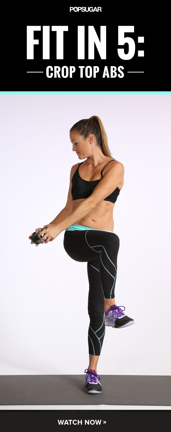 5-Minute Sculpt Session: Standing Ab Work.  This is great, you can do it anywhere!