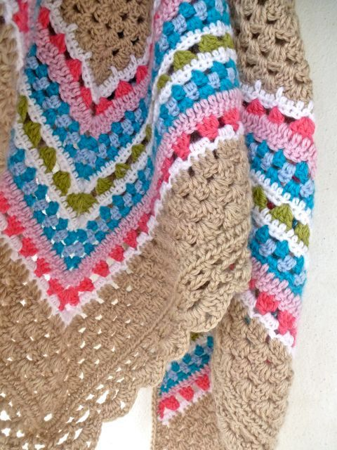 PDF Crochet Pattern Nordic Shawl US version by by MyRoseValley