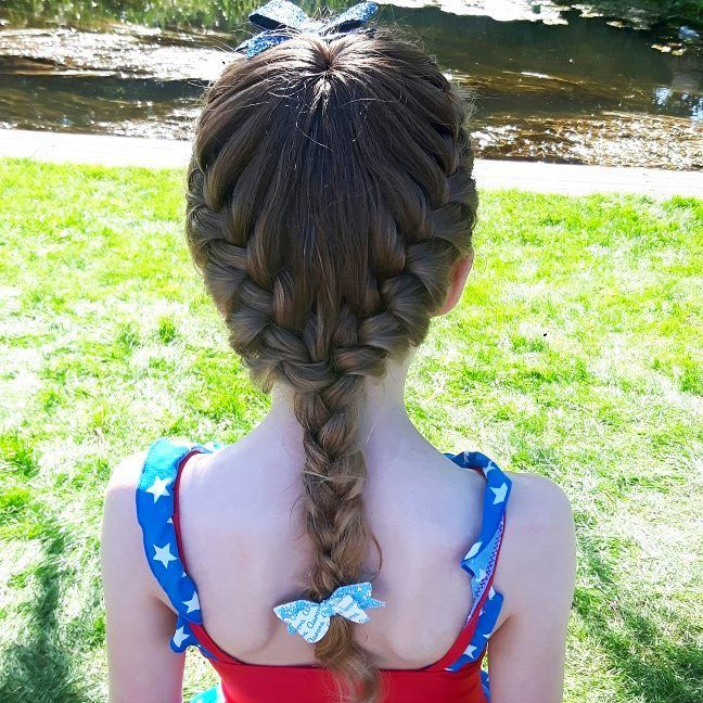 My first try at a full starburst braid. It stayed in super well during her time at a splash pad yesterday!  I haven't posted much lately as my spare time is going on a personal project that I do hope to share with you all very soon, I am just trying to pluck up the courage 😘. Have a wonderful day everyone 🤗🌈💖😚.  .  #hairinspiration #hairstylesforgirls #hairforgirls #braidsforlittlegirls #braidsforgirls #braiding #braidinghair #cutehair #cutegirlshairstyles #cghphotofeature…