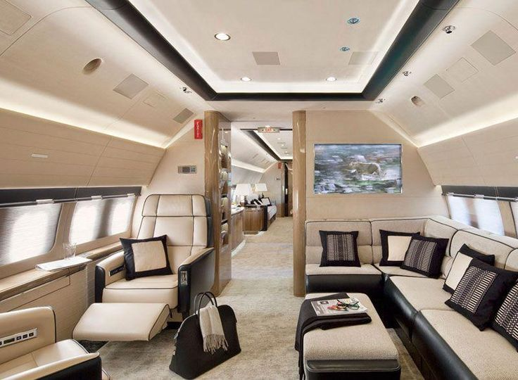 Private Jet Interior! Perfect to discuss business or relax while flying to Paris...