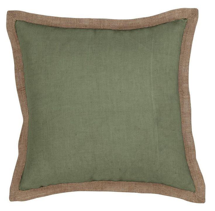 Hampton Linen Sage Green cushion