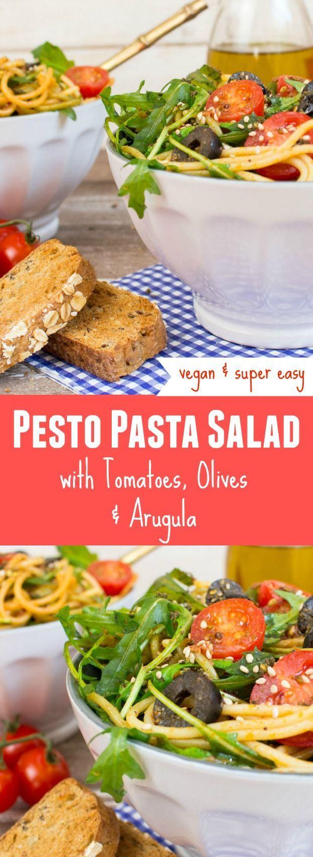 Vegan pesto pasta salad recipe