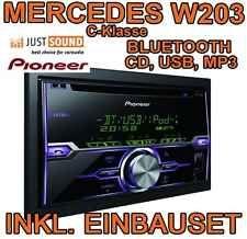 Mercedes Benz W203 C-Klasse - Pioneer Bluetooth USB  Autoradio Einbauset ANDROID