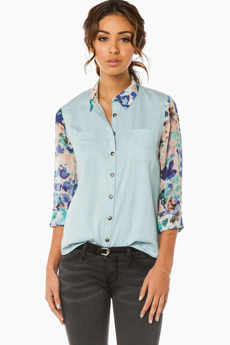 ShopSosie Style : Harada Blouse in Blue