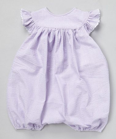 Another great find on #zulily! Purple Seersucker Bubble Romper - Infant & Toddler #zulilyfinds