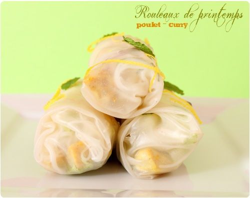 Rouleaux de printemps au poulet et curry