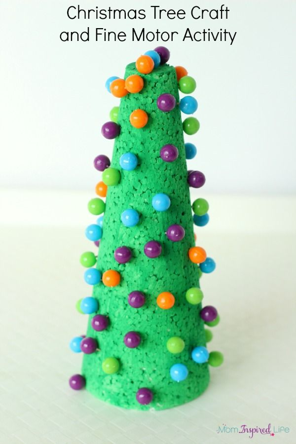 Push Pin Christmas Tree Craft and Fine