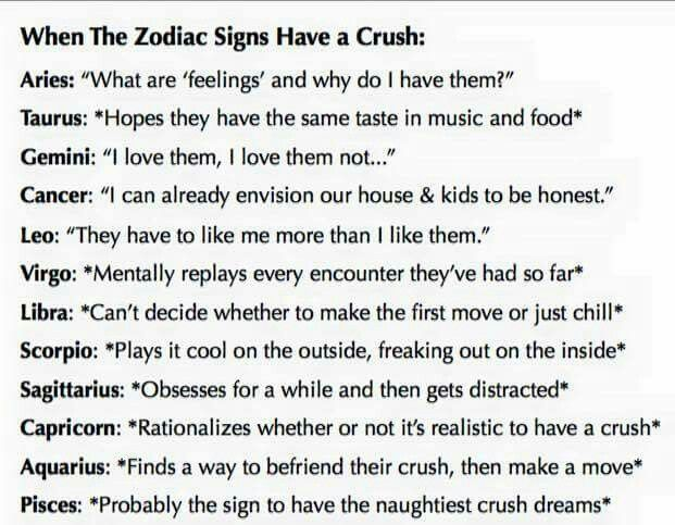 When the Zodiac Signs have a crush