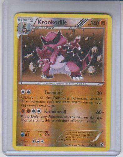 Krookodile Reverse Holo Rare Pokemon #65