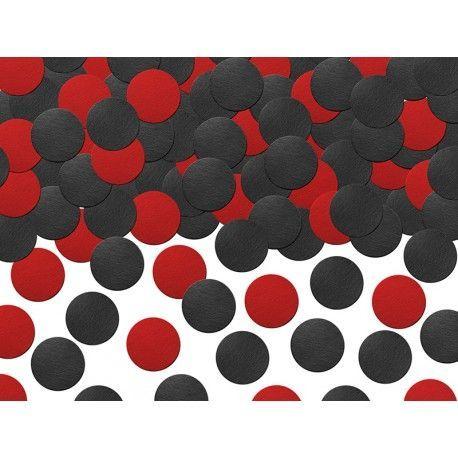 Confeti decorativo en tonos rojos y negros queda muy bien en cumpleaños de minnie roja #cumpleañosminnie #cumpleminnie #minniemousebirthday #minniebirthday #fiesatminniemouse #fiestaminnie #minniemouseparty #minnieparty #minnierosa #minnieroja #decoracionfiestaminnie #globosminnie #velaminnie