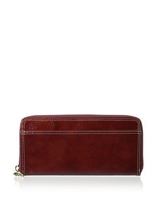 53% OFF Tusk Women's Single Zip Gusseted Clutch Wallet, Rust
