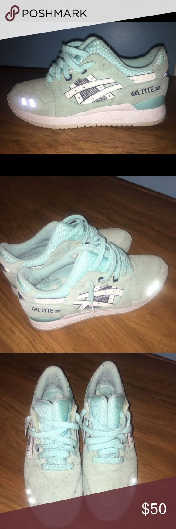 asic gel lyte no box. worn 3x times. 7/10 condition. scuff on toe, could be cleaned off. women's 9, men's 7 1/2. Asics Shoes Sneakers