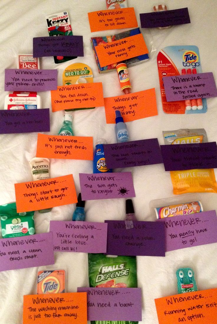 21 best images about college care packages on pinterest for Cute picture gift ideas