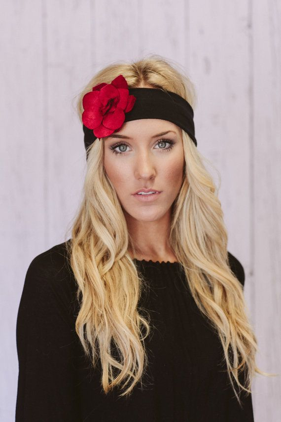 "Bohemian Bloom Headband Suede Flower Jersey by ThreeBirdNest, $36.00- Another one to add to the ""Buy"" list."