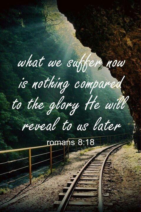 Romans 8:18 ..cross country quote