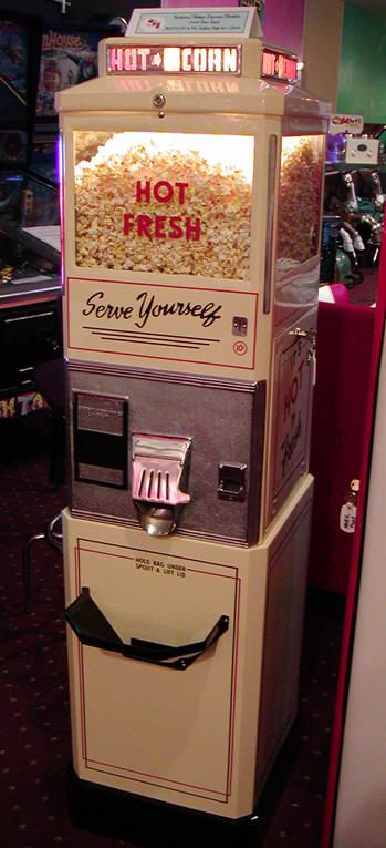 Antique Popcorn Machine, going in media room?