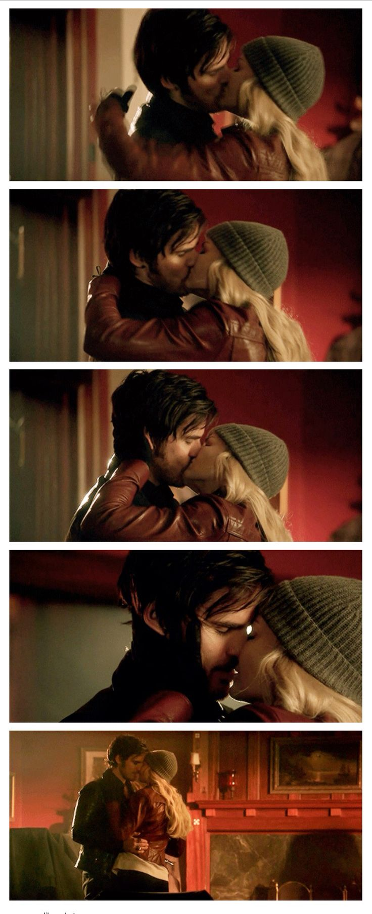 Once Upon A Time Captain Swan kiss 5x15