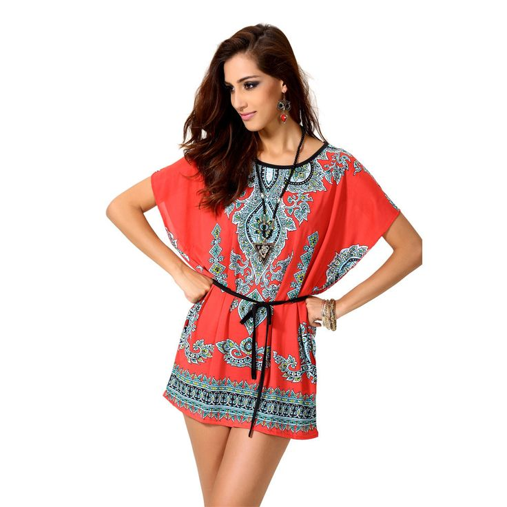 Red Short Sleeve New African Dress Designs For Women Fashion Design African Traditional Print Dashiki Clothing