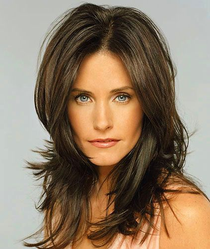 Courteney Cox Long Hairstyle Hairstyles