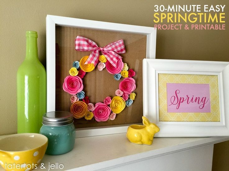 Check out this 30-minute, easy springtime decor project, complete with free printable! MichaelsMakers  Tatertots and Jello