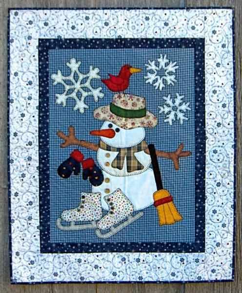 Looking for quilting project inspiration? Check out Cold Weather Friends by member christineFRD. - via @Craftsy