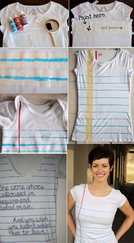 DIY T Shirt print – Day 3 http://interestingfor.me/diy-t-shirt-print-day-3/