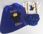 1er cumpleaños traje traje de Mickey, Mickey Príncipe, personalizado bebé niño traje, 1er cumpleaños Dressup, pastel ropa Smash, sesión de fotos para bebés